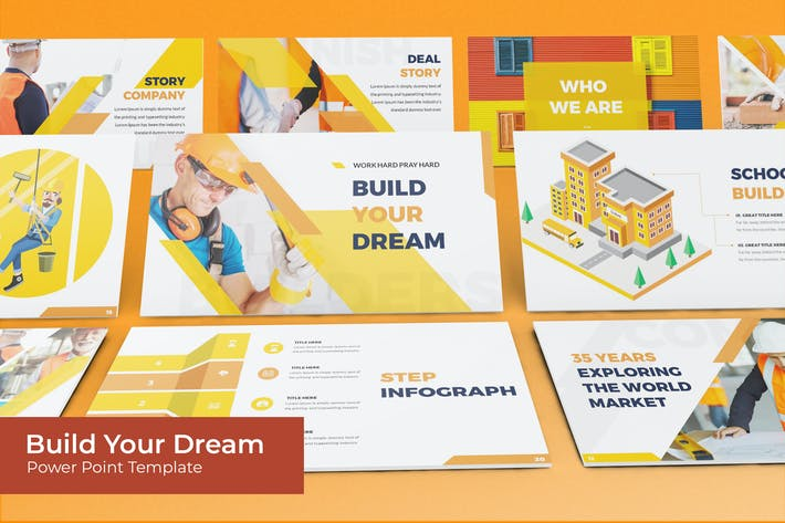 Thumbnail for Build Your Dream - Powerpoint Template