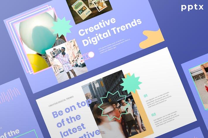 Thumbnail for Творческие цифровые тенденции 2021 - Powerpoint