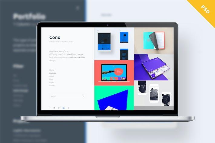 Thumbnail for Cono PSD - Different Portfolio Template