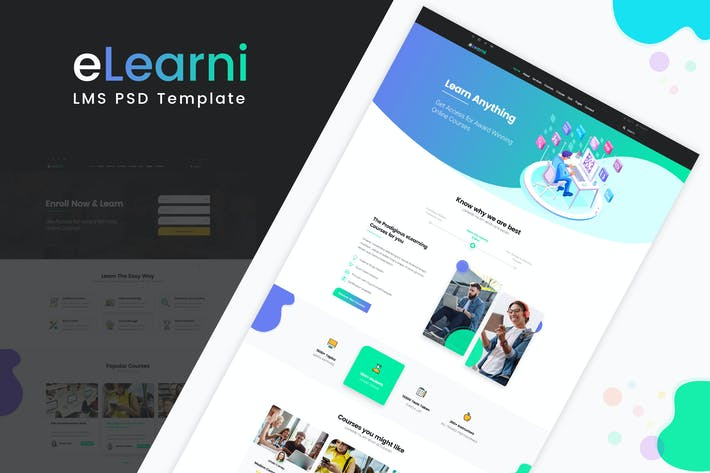 Thumbnail for eLearni | LMS PSD Template