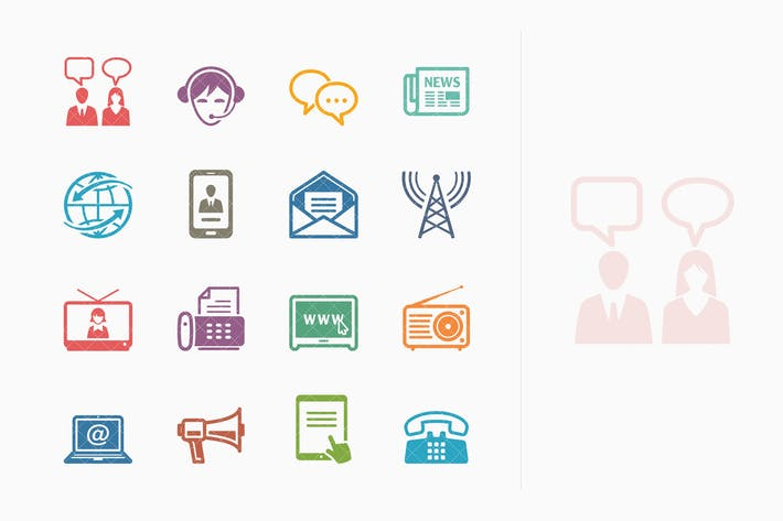Thumbnail for Communication Icons Set 2 - Colored Series