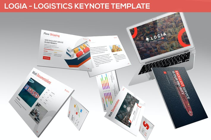 Thumbnail for Logia - Logistics Keynote Template