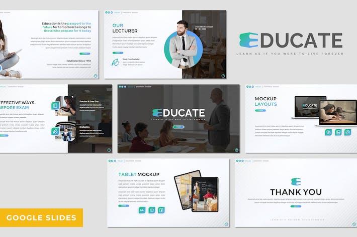 Thumbnail for Educate - Education Google Slides Template