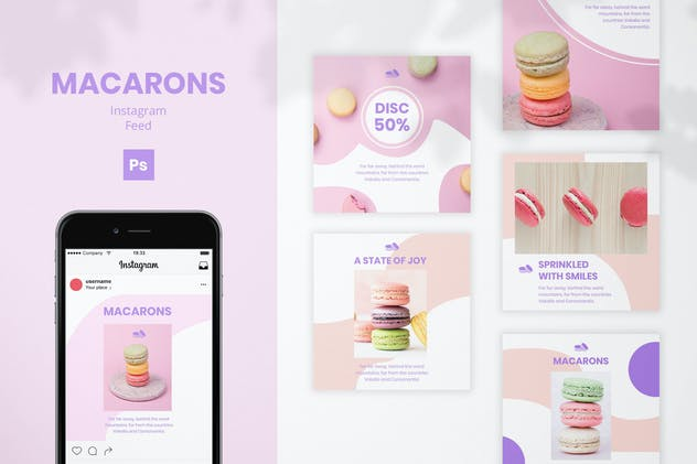 Macarons Instagram Feed - product preview 0