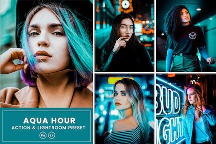 Aqua Hour Photoshop Action & Lightrom Presets