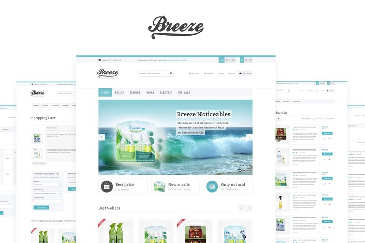 Thumbnail for Breeze — HTML5 & CSS3 eCommerce Template
