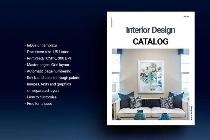 Thumbnail for Interior Design Catalog Template