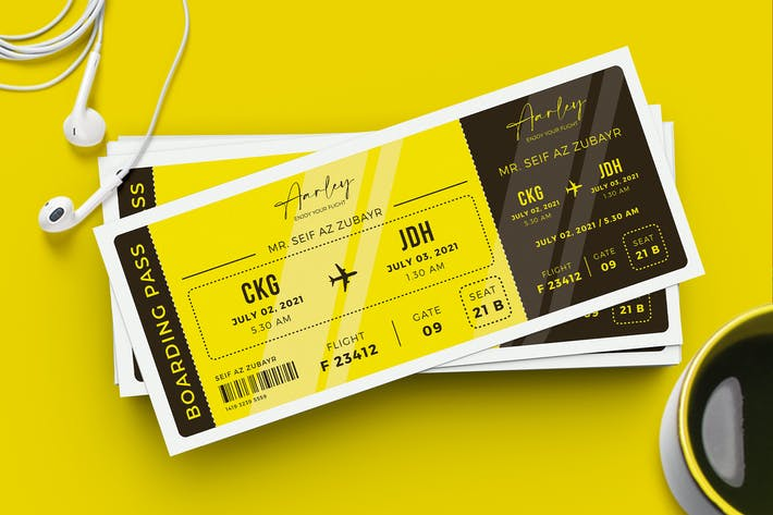 Thumbnail for Boarding Pass Template