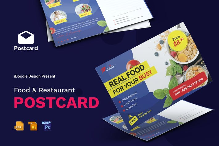Thumbnail for Food, Restaurant Postcard