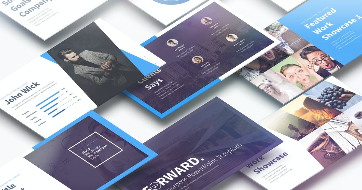 Download Forward - Multipurpose PowerPoint Presentation by Unknow