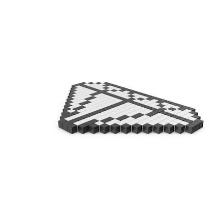 Icono de diamante pixelado