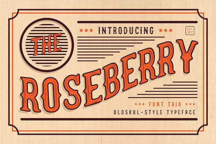Thumbnail for The Roseberry - Font Trio