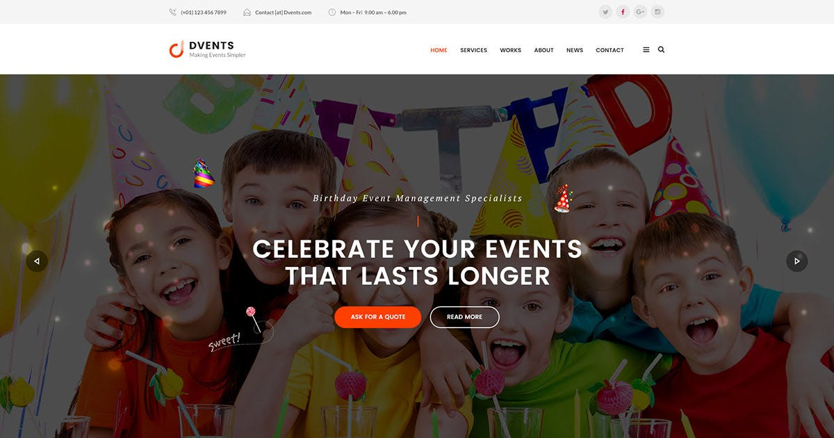 Download DVENTS - Events HTML Template by Templines