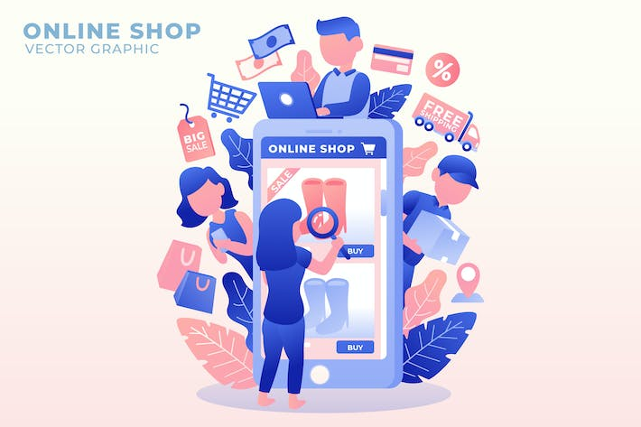 Thumbnail for Online Shop - Vector Illustration