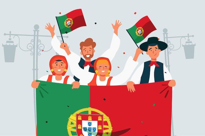 Thumbnail for Day of Portugal Festival - illustration
