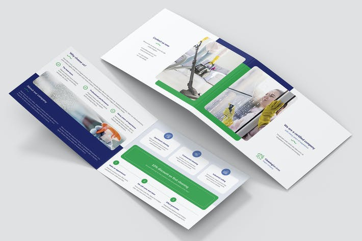 Thumbnail for Brochure – Cleaning Service Bi-Fold A5 Landscape