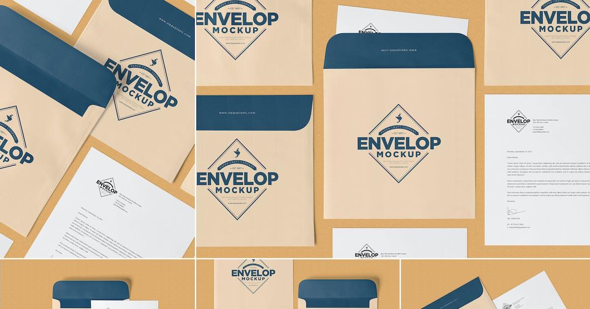 Download Unique Square Shaped Envelope Mockups by zippypixels