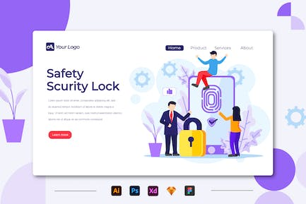 Safety Scurity Lock - Landing Page