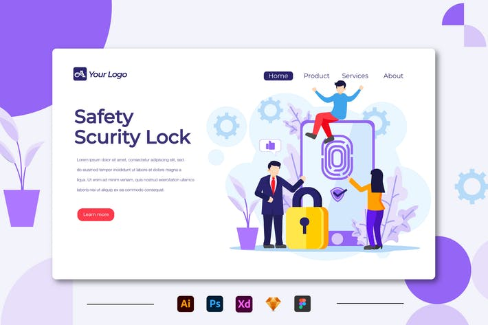 Thumbnail for Safety Scurity Lock - Landing Page