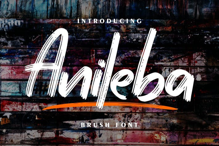Thumbnail for Anileba | Brush Font