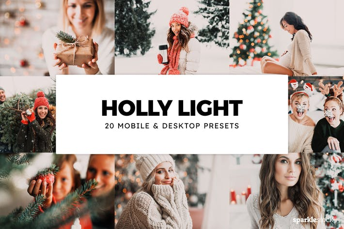 Thumbnail for 20 Holly Light Lightroom Presets & LUTs
