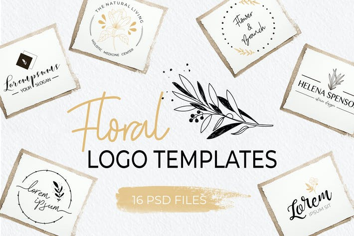 Thumbnail for Elegant Floral Logo Templates