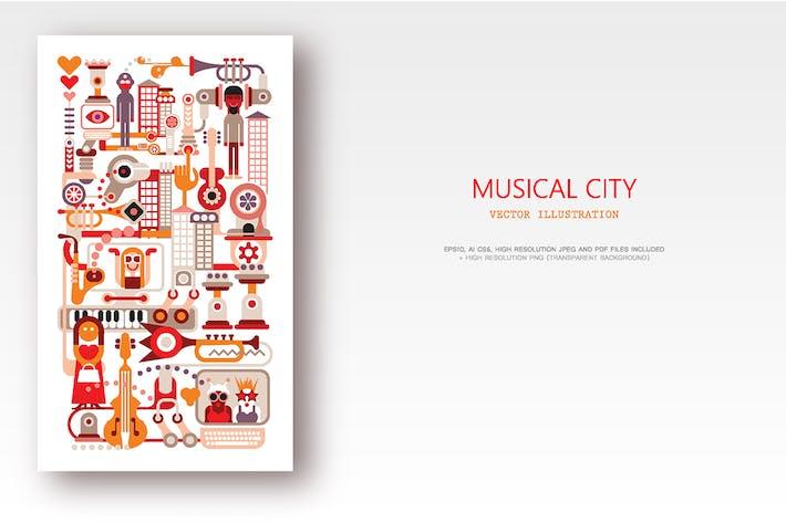 Thumbnail for Musical City vector illustration