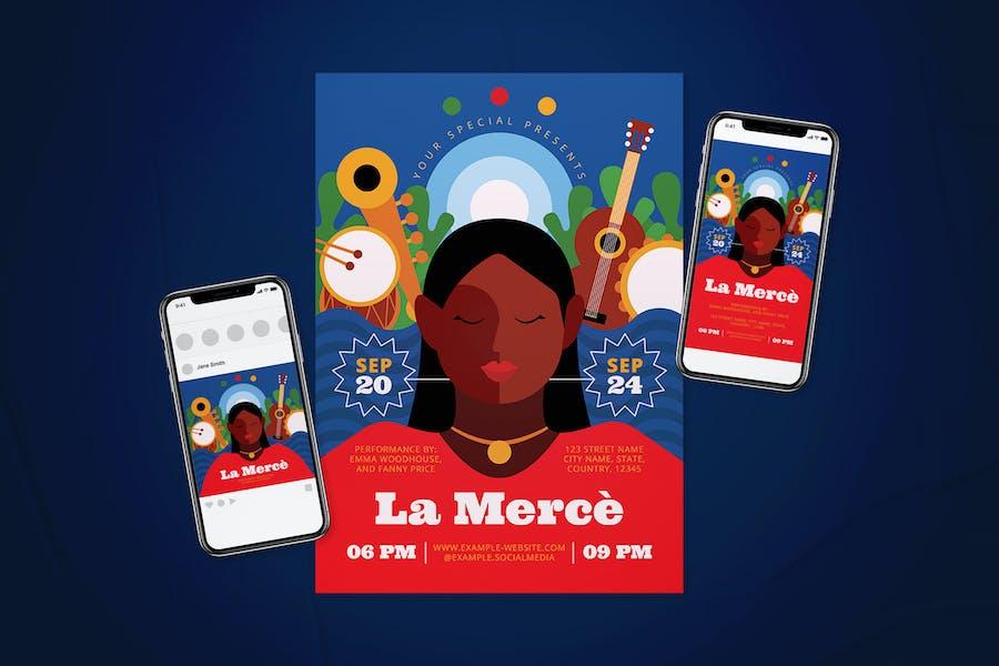 La Merce Flyer Set