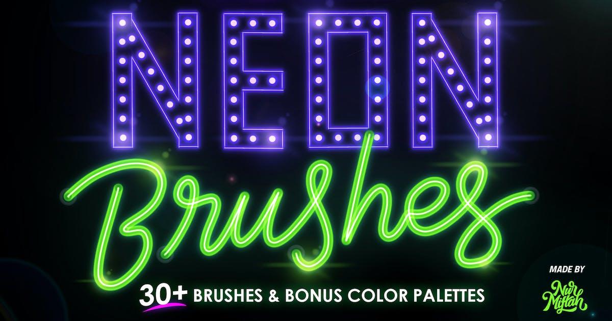 Download Procreate Neon Brushes by RakataStudio