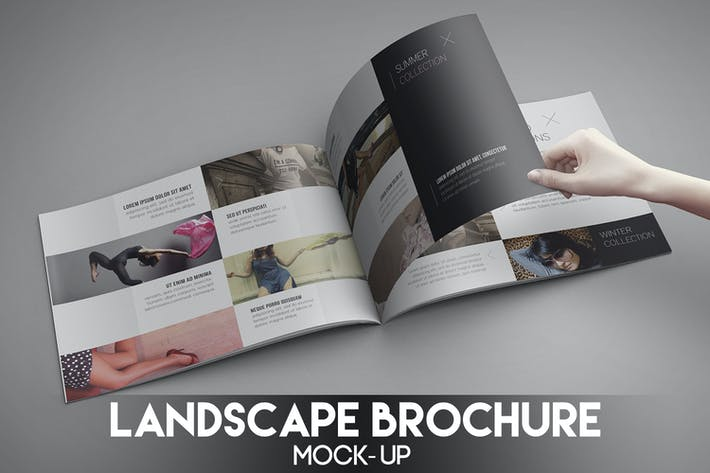 Thumbnail for Landscape Brochure Mock-Up