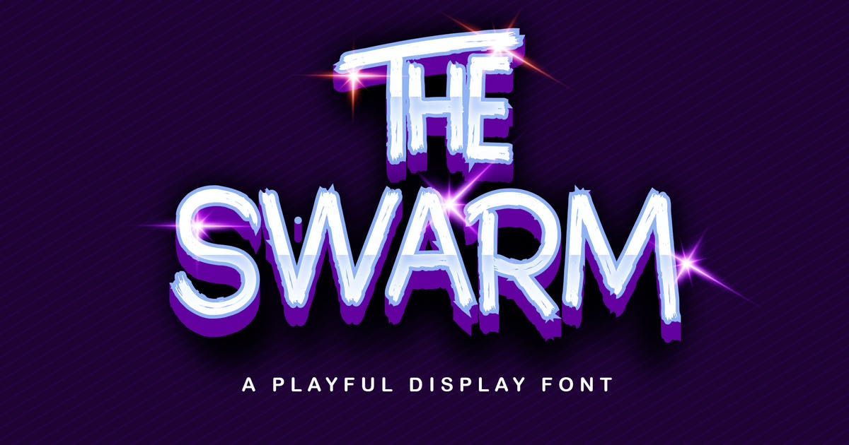 Download The Swarm - Playful Display Font by StringLabs
