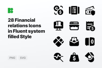 Fluent system filled - Financial relations