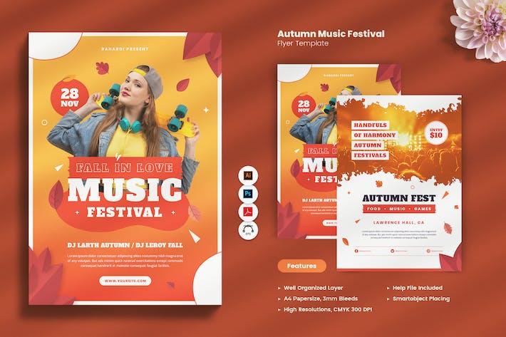 Thumbnail for Autumn Music Festival Flyer