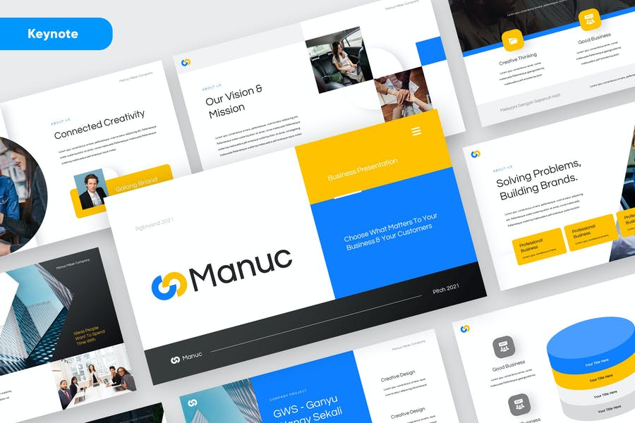 MANUC - Modern Keynote Template