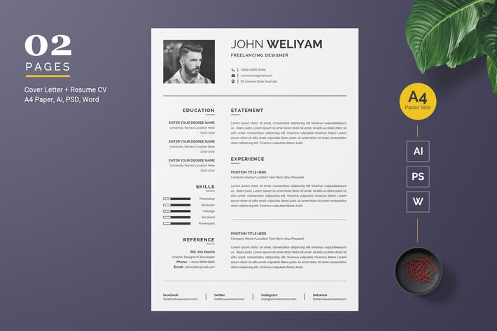 Thumbnail for Modern Resume / CV Template