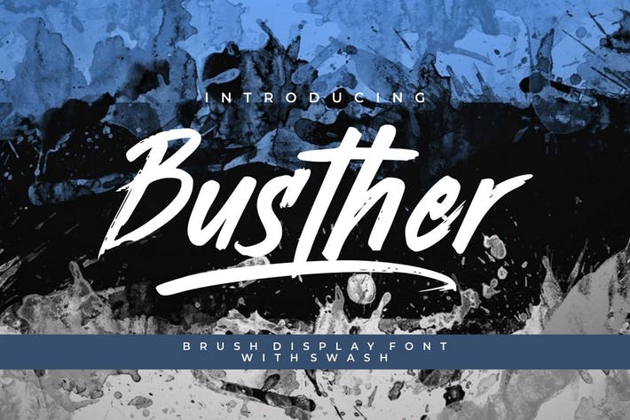 Thumbnail for Busther - Handbrush Typeface