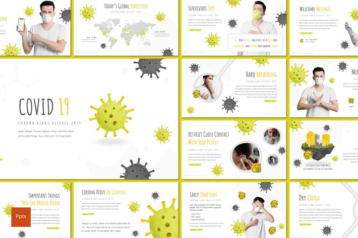 Thumbnail for Covid 19 - Powerpoint Template