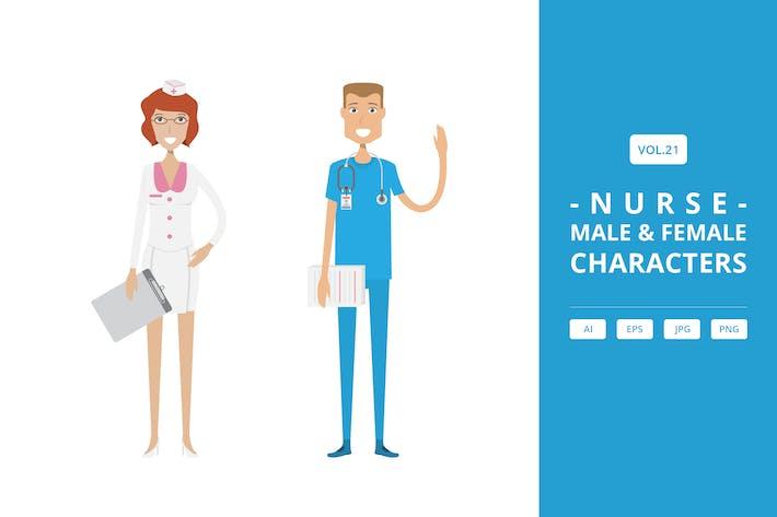Nurse - Male & Female Characters Vol.21