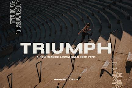 Triumph - Fuente ancha Sans Con serifa