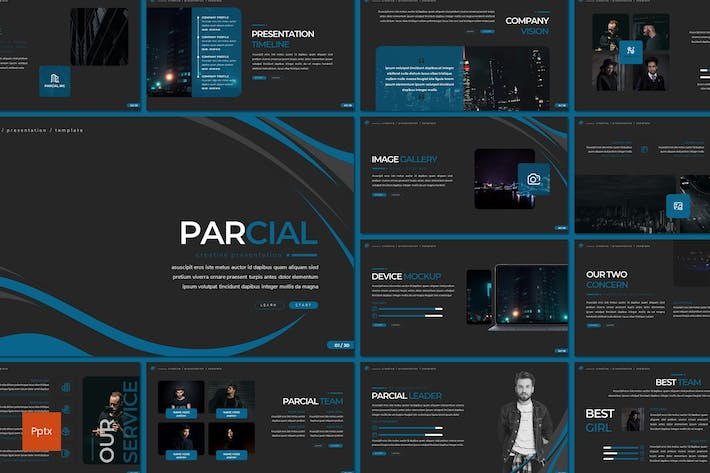 Thumbnail for Parcial - Powerpoint Template
