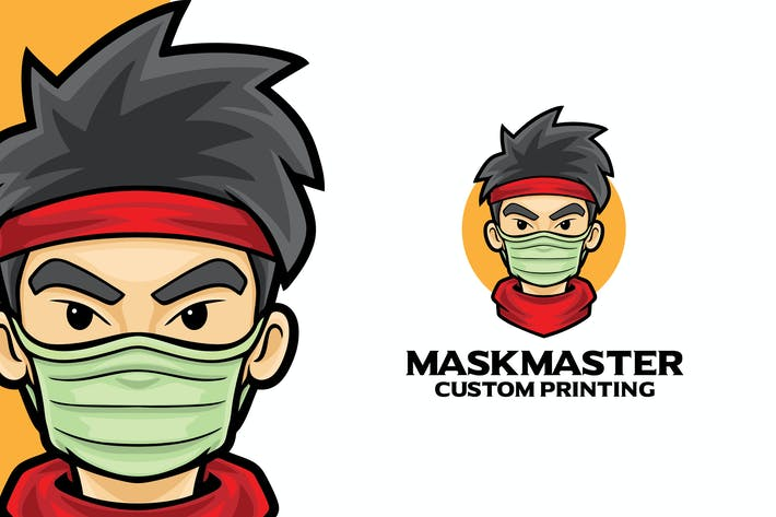 Thumbnail for Masker Hero Logo Mascot Template