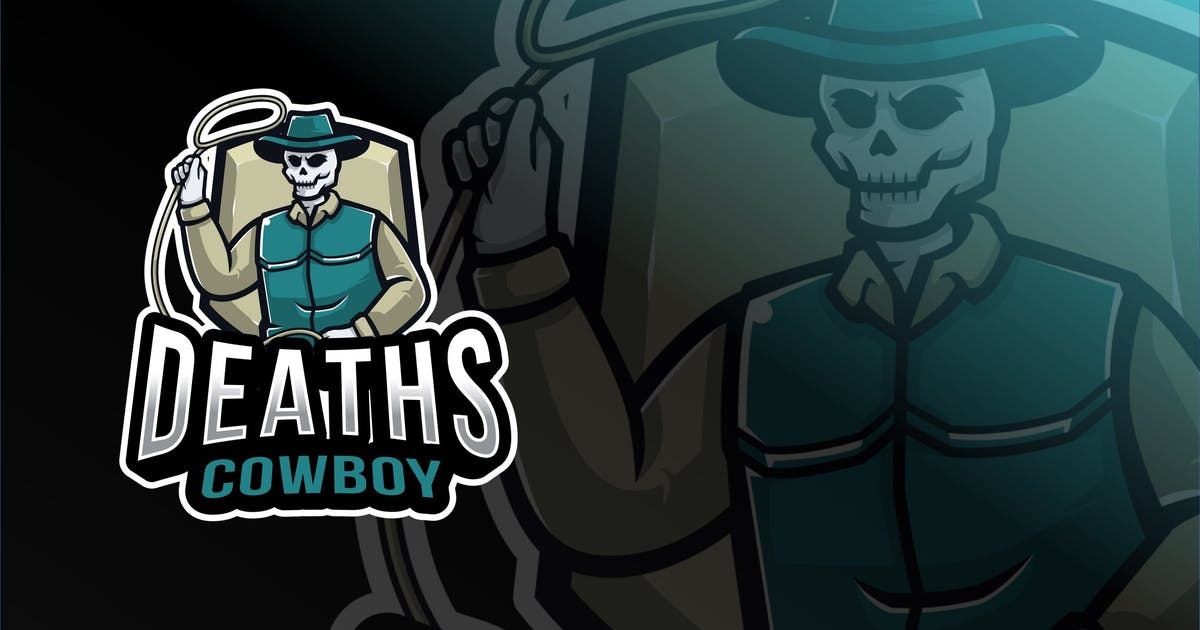Download Deaths Cowboy Esport Logo Template by IanMikraz