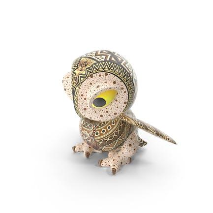 Búho de juguete de cerámica