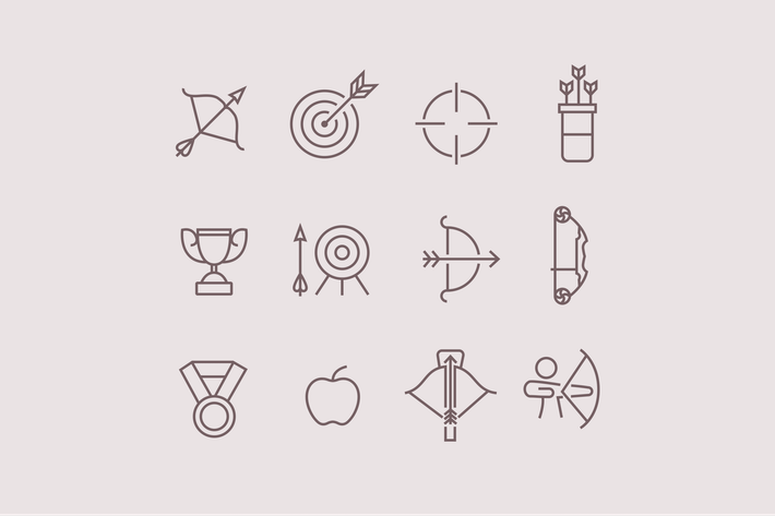 Thumbnail for 12 Archery Icons
