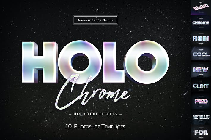 Thumbnail for Holochrome Text Effects