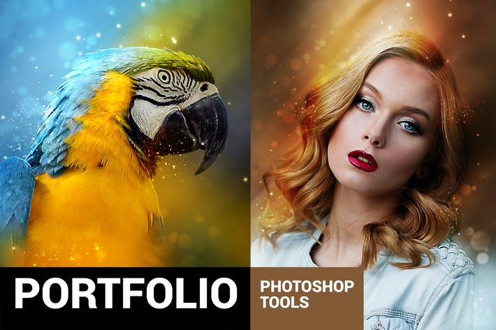 Thumbnail for Portfolium - Post Processing Photoshop Action