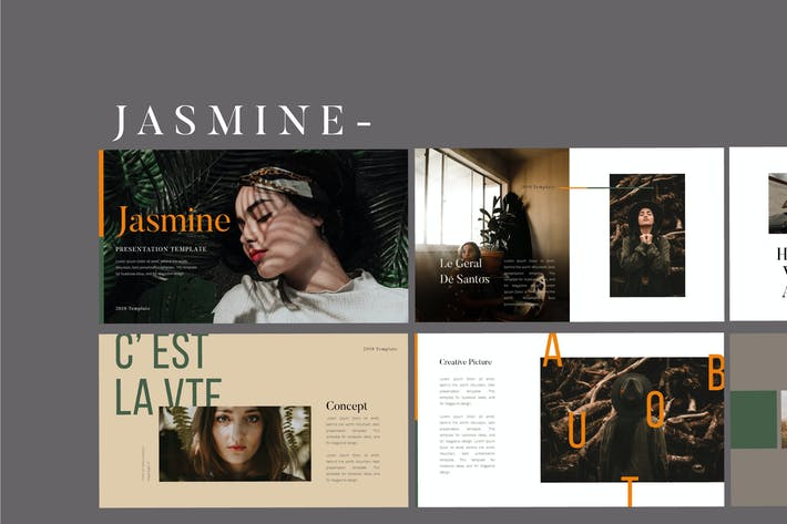 Thumbnail for Jasmine Lookbook - Fashion Powerpoint