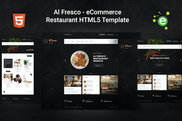 Thumbnail for Al Fresco – eCommerce Restaurant HTML5 Template