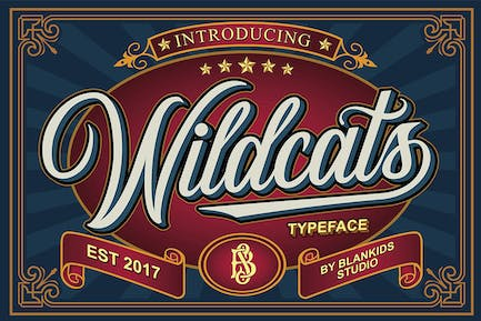 Wildcats - Copperplate Font