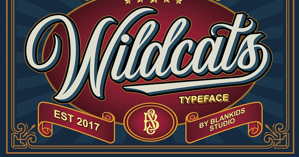 Download Wildcats - Copperplate Font by Blankids